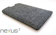 Nexus 7 2013 grey felt sleeve case wallet cover Laser cut in the UK. Perfect fit