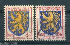 FRANCE - 1951, variété de couleur, timbre 903, ARMOIRIES FRANCHE-COMTE, oblitéré