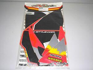 Honda CRF CRF250R New Printed TEAM Backgrounds Black Red Slvr 2004 2005 N-Style