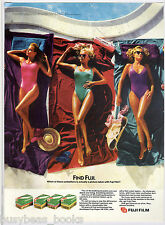 1987 FUJI FILM advertisement, retro  bathing beauty photo