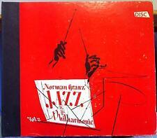2x 78 NORMAN GRANZ jazz at the philharmonic vol 2 VG David Stone Martin DSM RARE