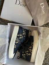 Christian Dior WALK'N'DIOR TECHNICAL KNIT OBLIQUE MID-TOP SNEAKER SIZE EUR 39