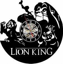 Repurposed Vinyl Record Clocks and Wall Art -  Lion King-1