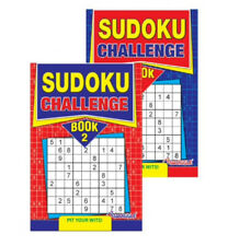 A5 Sudoku Puzzle Books Book 196 Challenge Puzzles Pages Fun Trivia x2 Books