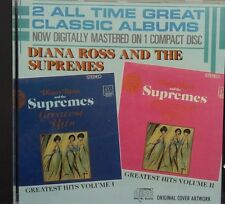 DIANA ROSS & THE SUPREMES Greatest Hits Volume I & II 1986 Double Play 2 On 1 CD
