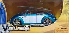 WOW EXTREMELY RARE VW Beetle Hebmuller Tuning Cabriolet 1949 Blue/Whit 1:24 Jada