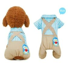 NEW WITH TAGS PENGUIN PATCH PLAID DOG ROMPER SIZE XS