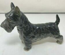 Vintage Japan Porcelain Schnauzer Dog Large Figurine