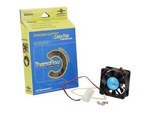 Vantec Thermaflow Double Ball Bearing 12V 60 x 60 x 25 mm PC Case Fan TF6025