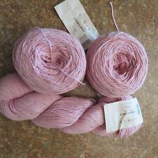 Three Rowan Creative Linen Cotton Blend Pink Mist Yarn  #119