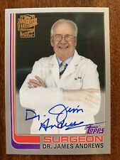DR. JAMES ANDREWS 2019 Topps Archives FAN FAVORITES SILVER AUTO #/99