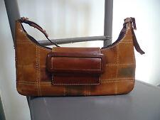 Très beau sac pochette bandoulière en cuir Claudio Orciani