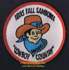 LMH Patch  1997 GOOD SAM CLUB SAMBOREE  State Rally  AMARILLO TX  Cowboy Country