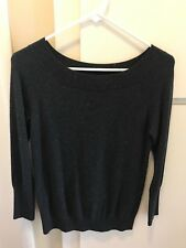 Ann Taylor Loft Women's Very Soft Light Sweater Charcoal Petite Small PS