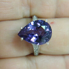RING:  SIZE 6.5, PERFECT TITANIUM BLUE/PINK SPINEL PEAR 9+ CARATS 925 STERLING