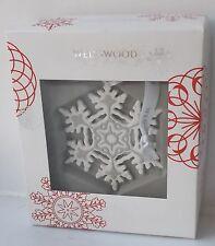 Rare Wedgwood Grey Jasper Snowflake Xmas Tree Decoration - New and Boxed
