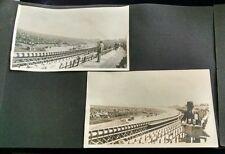 Antique Photo lot 14 pc California? Racetrack Beach Cars Landscape FREE SHIPPING