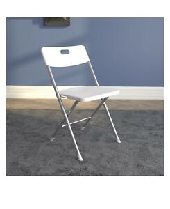 Plastic Development Group Outdoor Plastic Folding Party Chair, White (4 Pack)