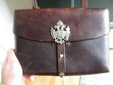 New listing Rare Vtg. Swiss Army Officer Map Bag 1953 Walperswil With Unusual Silver Crest