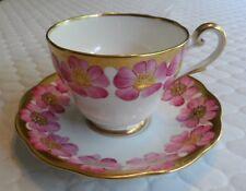 Vintage Royal Standard Pink Flower Floral Bone China Tea Cup Saucer