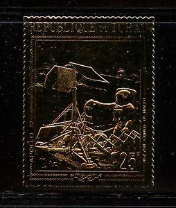 I449  Chad 1970   space Apollo 12   GOLD FOIL  1v.  MNH