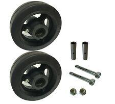 2 Caster Wheels Set 4 5 6 8 Rubber On Cast Iron Wheel Set With Bearing Amp Kit