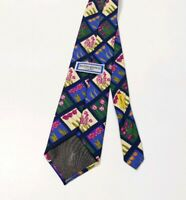 Yves Saint Laurent Silk Tie Floral Check Multicolour YSL Wedding RRP £125