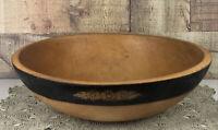 Vintage Seceni Turned Wooden Bowl Flower Design