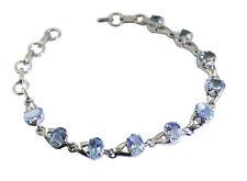 Blue Topaz 925 Solid Sterling Silver Blue Bracelet wholesales US gift