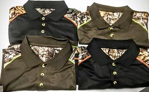 REALTREE BUCKHORN Men's Polo Collared Shirt, Moisture Wicking, Cool Dry  Hunting