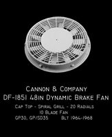 Cannon & Company HO DF-1851 Dynamic Fans GP30 Early 35s MODELRRSUPPLY  $5 Coupon