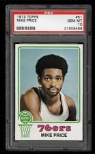 1973 Topps Basketball Card #51 Mike Price -  PSA 10 GEM MINT - POP 2