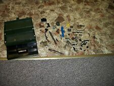 GI JOE LOT FOOT LOCKER WITH ACCESSORIES AND WEAPONS NICE GROUP