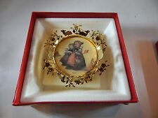 """Hummel Gold Christmas Ornament Collection """"Children Church Road"""" New W/Box"""
