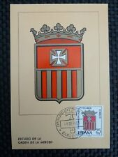 SPAIN MK 1963 ESCUDO ORDEN MERCED WAPPEN MAXIMUMKARTE MAXIMUM CARD MC CM c8734