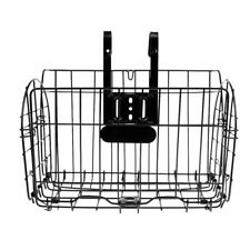 Foldable Bike Bicycle Storage Basket Detachable Front Rear Cycling Black