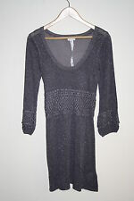 River Island Woman's Fashion Designer Everyday Coctail Knitted Dress Grey Size10