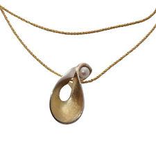 GlanzPunkt Anhänger vergoldet mit Süsswasserperle Schmuck Halskette gold Perle