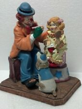 1986 Aldon Carnival Clown Collection Coa #1867 Clown appling make-up 3lb Ltd Ed