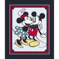 Disney Mickey & Minnie Mouse Vintage Hugging Panel 100% Cotton Fabric