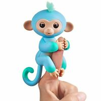 Fingerlings 2Tone Monkey - Charlie Blue with Green accents - Interactive Baby