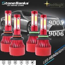 9005+9006 6000K 32000LM 120W Combo 4-Side LED Headlight Kits High Low Lamp Bulb