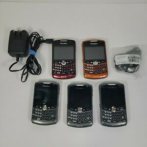 Lot of 5 Blackberry Cell Phones PDA Sprint Curve 8330 Part or Repair