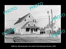 OLD POSTCARD SIZE PHOTO OF BILLERICA MASSACHUSETTS THE C&G ELEVATOR c1903