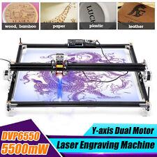 5500MW Mini Desktop Laser Engraving Machine 50X65CM DIY Wood Logo Cutter Printer