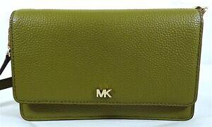 Michael Kors Mott MK Signature Pebbled Leather Phone Wallet Crossbody Purse