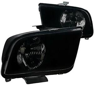Ford Mustang GT Base Shelby Headlights - Smoke 2005-2009 Vehicle Models