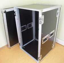 Verstärker Rack PR 2, 18 HE, 47 CM TIEF schwarz Double Door Amp Endstufen PA DJ