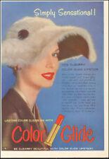 Vintage ad for New Dubarry Color Glide Lipstick red retro fashion  092217