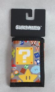Super Mario Wallet New Officially Licensed Nintendo Bioworld Trifold Kids